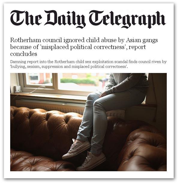 Resultado de imagen para Rotherham y Telford, child abuse Daily Telegraph